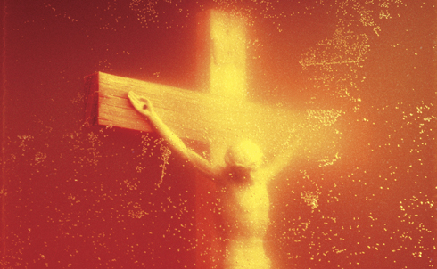 """Andres Serrano's """"Piss Christ"""" is an instantly recognizable icon of controversial art, largely because of the furor right-wing politicians and pundits whipped up over the photograph. Senator Jesse Helms was outraged by it, Senator Al D'Amato called it a """"deplorable, despicable display of vulgarity"""" and religious leader Donald Wildmon said it amounted to """"anti-Christian bigotry.""""  In an interview after the controversy, Serrano said that he didn't go out of his way """"to be critical of the Church in my work, because I think that I make icons worthy of the Church."""" Conservatives at the time disagreed, and latched onto the fact that Serrano received some funding from the National Endowment for the Arts for the work as an excuse to rail against the NEA and even argue for wholesale defunding of the agency. Though the agency survived the """"Piss Christ"""" controversy, the right's campaign against federal funding for controversial artists did not end with the photograph.  Credit: Andres Serrano"""
