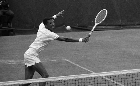 I was a tomboy in a family filled with artists, academics and musicians whose idea of sports was croquet (my mother, now in her 80s, remains fiercely unbeatable). I was instructed in tennis, and so not surprisingly my first sports hero was Arthur Ashe.  I saw him play at Madison Square Garden on my first date, which was in seventh grade. He was awe-inspiring in his grace. Later, of course, I learned that he was equally graceful in acing some of the toughest challenges in politics. In my mind, he still stands out as an athlete who used his gift and his fame to serve larger causes  Jane Mayer is a staff writer at The New Yorker.   Credit: AP Images