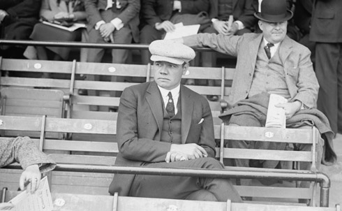 "As a kid, growing up in the 1930s on West 74th Street between Broadway and West End, the highlight of my day was ten in the morning, when Babe Ruth would emerge from his daily shave at the barbershop in the Ansonia Hotel, on my corner. Every day, if I could be there, I would stand on the street, and when the Babe appeared, I'd wave and say, ""Hi, Babe."" He'd wave back and say, ""Hi, kid,"" and then get into his car. One day I got up the courage to ask him for his autograph, and he signed my book, date and all.