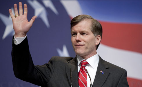 """Bob McDonnell has been Virginia's Governor for less than a year, but he has already become a prominent figure in the GOP. Earlier this year, McDonnell spoke at the Conservative Political Action Conference about a wave of young people """"retaking"""" the country.  McDonnell's gubernatorial campaign touted his 21 years of service in the military and his tough-on-crime policies, but McDonnell wasn't always about just honor and service. In his 1989 master's thesis at the evangelical Regent University, McDonnell called working women """"detrimental"""" to the family; demanded that government """"restrain, punish, and deter"""" homosexuality; and ridiculed """"conventional folklore about the separation of church and state."""" As Virginia's Attorney General, McDonnell sought to follow through on this agenda in his thesis when he introduced thirty-five measures to restrict abortion rights and championed tax policies to protect the traditional husband as sole breadwinner for families.  Even though McDonnell has been careful to build up his reputation as a jobs- and economy-focused """"federalist governor"""" rather than as a defender of traditional family values, The Nation's John Nichols took issue with the Governor's announcement of April as """"Confederate History Month"""" in the old dominion state: according to Nichols, McDonnell crudely omitted slavery as a cause of the civil war.  Research for this slide show provided by Joanna Chiu.  Credit:Reuters Pictures"""