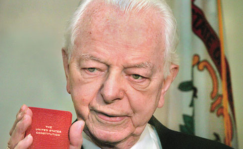 """But Byrd did not lose sight of the significant battles to be fought on the homefront either: """"We cannot continue to commit billions in Iraq when our own people are so much in need, not only now, in New Orleans, but all across America for everything from education to health care to homeland security to securing our own borders,"""" Byrd said in September 2005 on the Senate floor. """"It is time to come home, America. Time to look within our own borders and within our own souls.""""  Credit:APImages"""