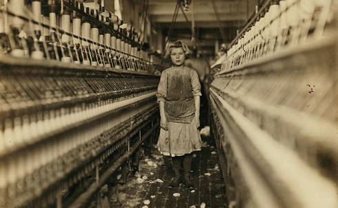Child worker in a Georgia cotton mill, 1909