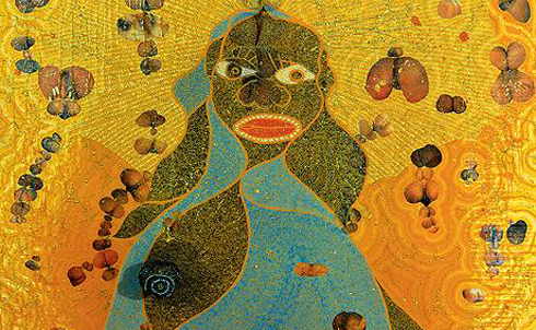 "When Chris Ofili's painting ""The Holy Virgin Mary"" appeared in a Brooklyn Museum exhibit in 1999, The Nation's Katha Pollitt called it ""a funny, jazzy, rather sweet painting."" Self-appointed guardians of taste and morals didn't agree: then-New York City Mayor Rudolph Guiliani tried to evict the museum over the exhibit and Camille Paglia called the painting—a Madonna surrounded by porn magazine cutouts, all topped with a dollop of elephant dung—""anti-Catholic.""