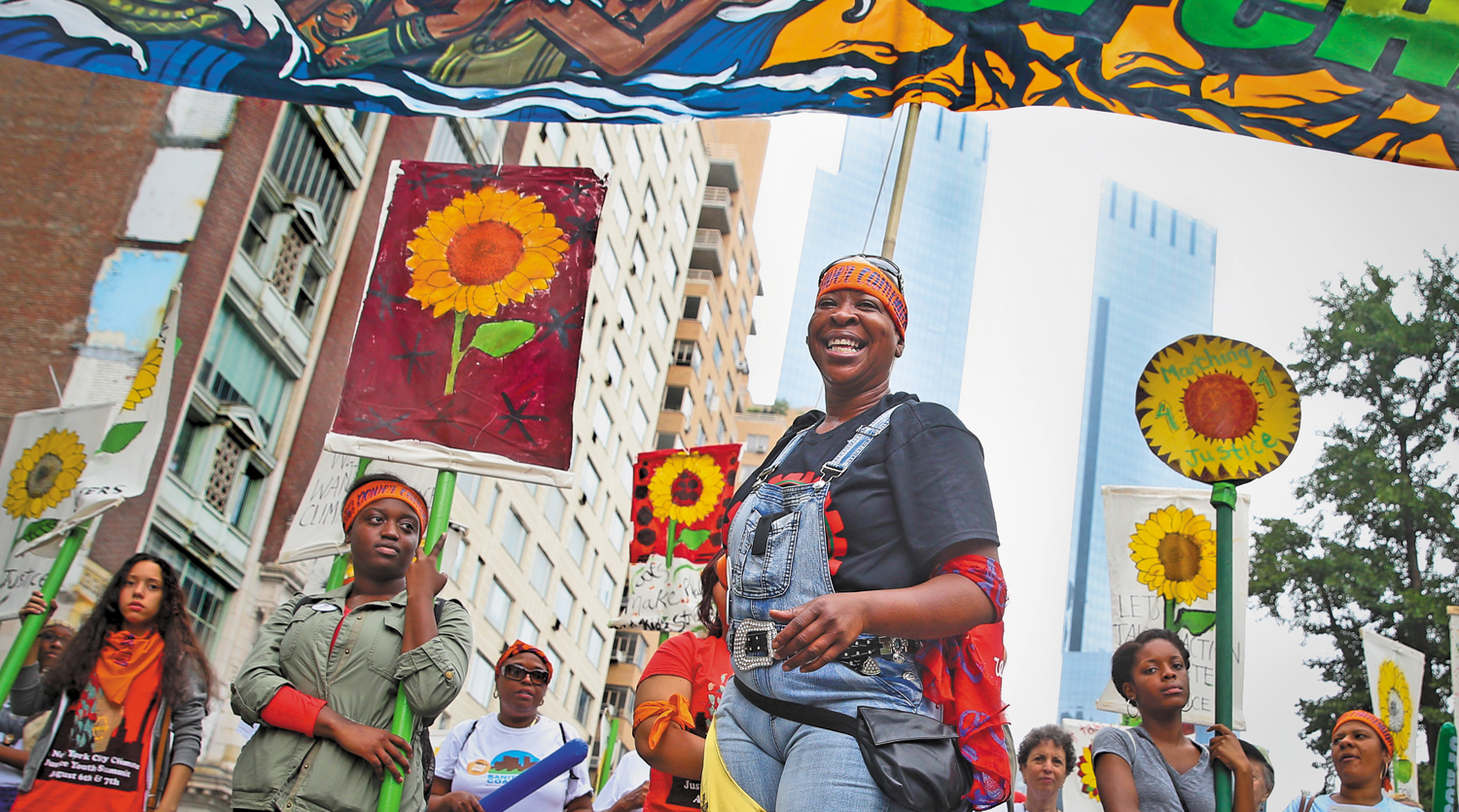 Demonstrators-People's-Climate-March-on-September-21-2014-New-York-City