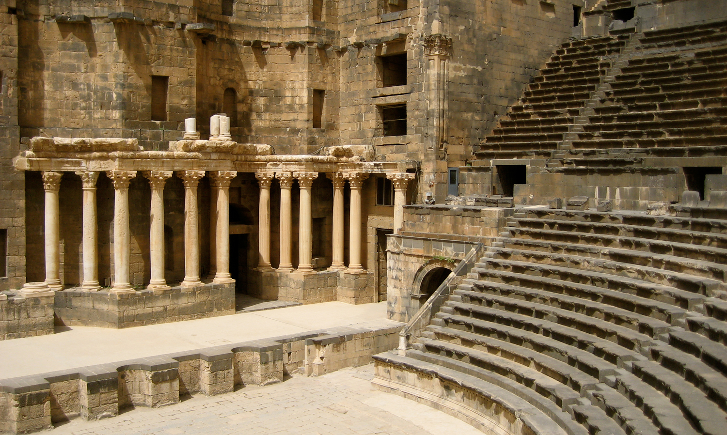 A-Roman-theater-in-Bosra-once-the-capital-of-the-Roman-province-of-Arabia-2009