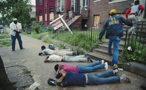 """By the eighties, the open violence of the lynch mob had largely given way to insinuations of intractable racial inferiority peddled by a mainstream media more than happy to claim that the problems facing African-Americans were self-made. In his 1989 essay, """"The Black Pathology Biz,"""" Ishmael Reed wrote that from their depiction of street gangs to crack use to unemployment to unwanted pregnancies, the media makes their money by """"putting out the lie that US crime is black.""""  Credit: AP Images"""