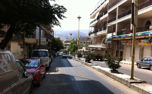 The eastern bank of Zabadani