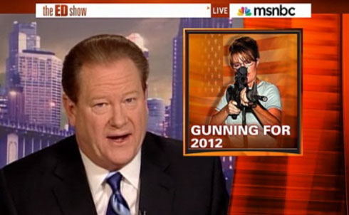 """One of the most remarkable moments during the healthcare debate came when MSNBC's Ed Schultz interviewed Dennis Kucinich about his decision to vote for legislation the Ohio Democrat had condemned as a handout to big insurers. The give-and-take between Schultz and Kucinich, both backers of the single-payer """"Medicare for All"""" approach rejected by the Obama administration, was electric, filled with emotion yet nuanced in its recognition of the moral and political pressures faced by progressives. Again and again in 2010, Schultz highlighted not just partisan divisions but the frustrations that surfaced as Democratic members of Congress wrestled with questions of when to support a Democratic president and when to object. The most populist of MSNBC's hosts, Schultz shows his anger not just with right-wing """"psycho talk"""" but with Democratic double talk. A proudly independent """"lefty,"""" Schultz highlights members of Congress and activists who criticize compromises, especially on bread-and-butter issues. That makes his show energetic, and often newsworthy, as when Sanders raised the prospect of filibustering the tax deal on the program. Yet Schultz keeps things fun; his one-man crusade to hold Dick Cheney to account for political and corporate wrongdoing mocks the former vice president who famously wounded a hunting partner as """"Shooter."""" Schultz does good television, and good politics."""