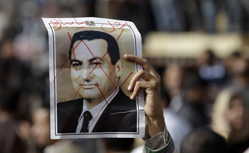 After protests erupted in Egypt, WikiLeaks released new cables documenting the extent of the corruption, torture and other abuses ordered or allowed by Hosni Mubarak's regime (and under the watch of Mubarak's right hand man, Omar Suleiman). The cables influenced media coverage of, and US government reaction to, the protests in Egypt that ultimately forced Mubarak's exit in February. Additional cables on corruption in Bahrain released in February are now playing much the same role there as massive protests spread throughout the Middle East and North Africa.  Credit: AP Images