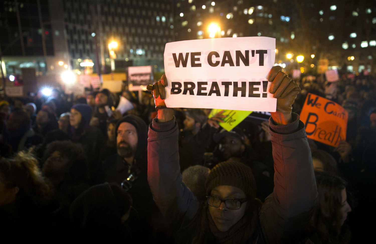 Demonstrators-protest-Eric-Garner's-death