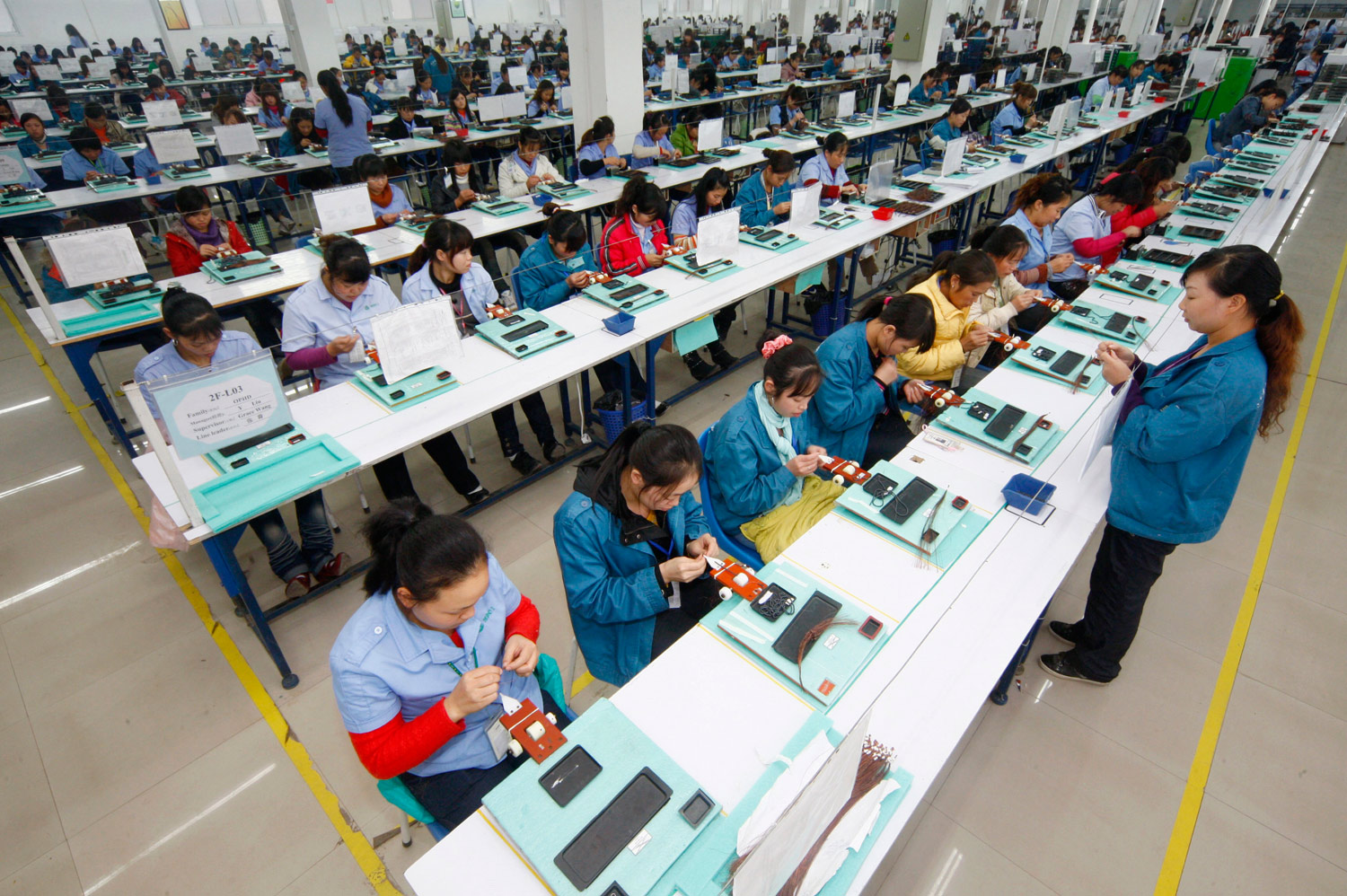 china factory chinese production apple workers assembly electronic think productive exports called should line province led parts supervisor reuters stringer