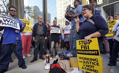 At the start of the semester, the FBI searched the homes of members of anti-war activists in Minnesota and Chicago, including Students For a Democratic Society. According to the group, federal agents confiscated documents, cell phones and storage disks. Protests sprang up in cities across the country following the raids.  Critics are calling it a general crackdown to suppress student activism on college campuses.   FBI Raids Homes of Antiwar and Pro-Palestinian Activists in Chicago and Minneapolis [Democracy Now!] Anti-war Activists Protest Against FBI [NBC Chicago] Students for a Democratic Society speaks out against FBI raids [SDS]   Credit: AP Images