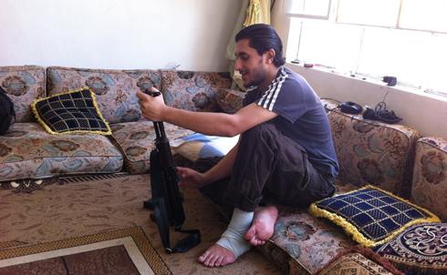 A Free Syria Army volunteer in Zabadani