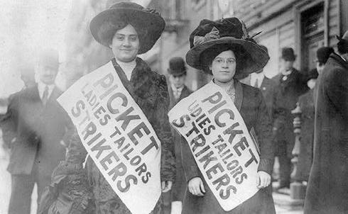 Tailors on strike, New York City