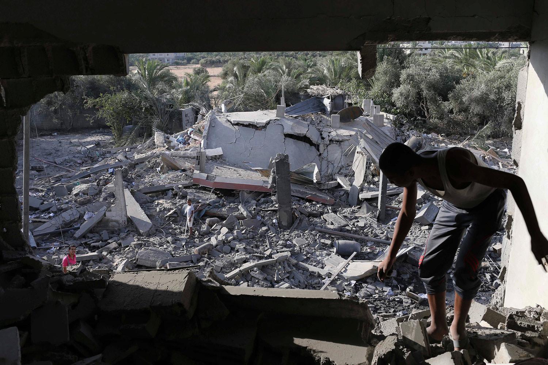 Damaged-house-in-Gaza