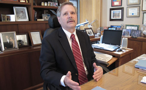 """North Dakota's John Hoeven thinks the planet is warming, though the cause of this is a """"matter of opinion,"""" and if Congress tries to do anything about it, it will just make life harder and more expensive for average Americans.  Or, more realistically, it will create new jobs and keep the money we're spending on foreign oil inside the country. It's too bad that once a Republican calls something """"job-killing,"""" it sticks.  Hoeven has opposed enabling the Environmental Protection Agency to regulate emissions, and thinks this should be the sole jurisdiction of Congress. Because it's a great idea to put the people getting donations from businesses with a vested interest in restricting emissions as little as possible in charge of setting our environmental regulations, and not the people with backgrounds in science.  Credit: APImages"""