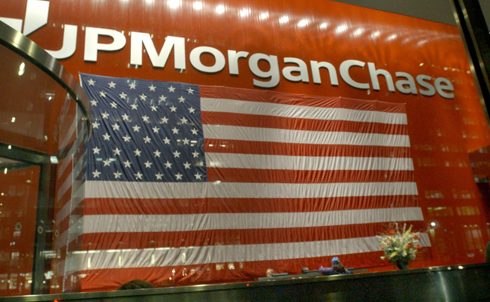 The government loaned JP Morgan Chase over $25 billion as part of the TARP bailout. But the massive banking firm also operated 50 subsidiaries in tax havens, including 7 in the Cayman Islands, a 0% corporate tax nation.  Credit: AP Images