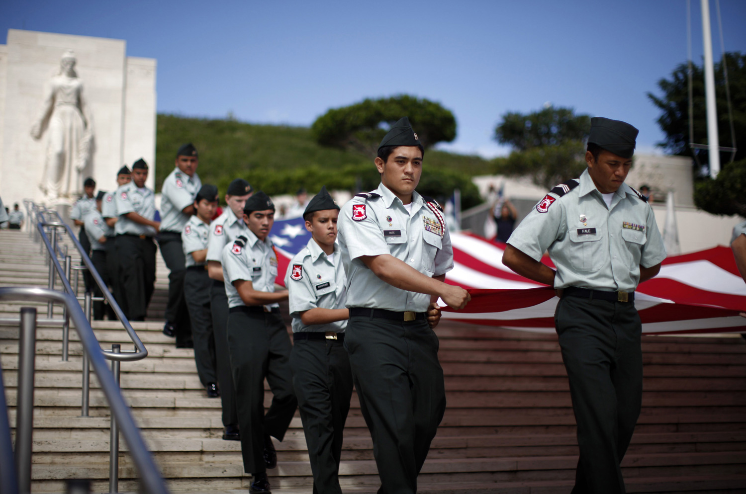 Members-of-the-Kahuku-High-School-JROTC-Cadets-in-Honolulu-Hawaii-ReutersJason-Reed