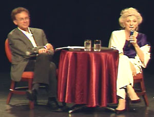 Judy Collins and John Nichols aboard the Nation Cruise