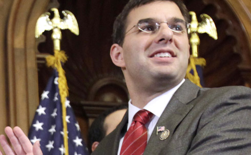 """Amash has pulled off a pretty amazing feat: angering not only seniors and independents in his district by voting for the Ryan budget plan, but ticking off the Tea Party at the same time with a number of moderate moves. """"He has voted against his party on important symbolic measures, like one that would strip financing fromPlanned Parenthood, and those most minor, like a measure to amend theRonald ReaganCentennial Commission Act to extend its termination date,"""" the New York Times reported in April. He might have to first survive a Tea Party primary before he even worries about the Democratic candidate.   Credit: AP Images"""