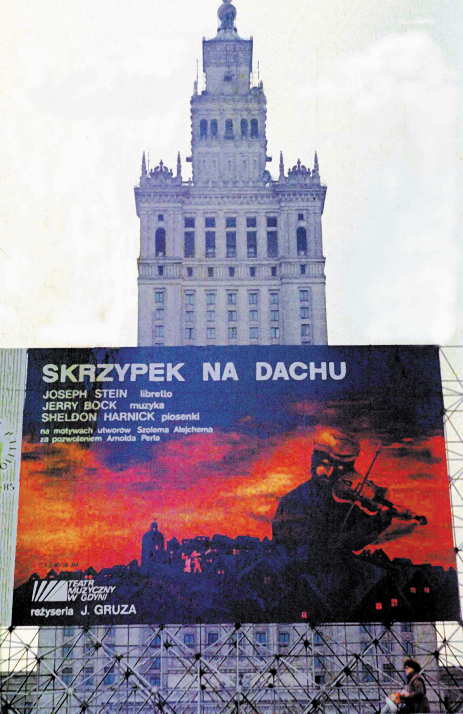 Billboard-advertises-Fiddler-on-the-Roof-in-Warsaw-1984