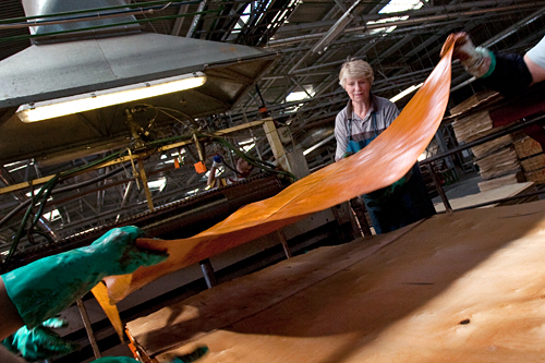 One of Latvia's largest plywood makers, Latvijas Finieris, saw a 50 percent reduction in the factory's annual output since March 2008. The factory laid off a quarter of its workforce and asked the remainder to work four days a week.