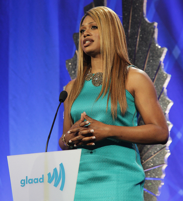 Laverne Cox at the GLAAD awards
