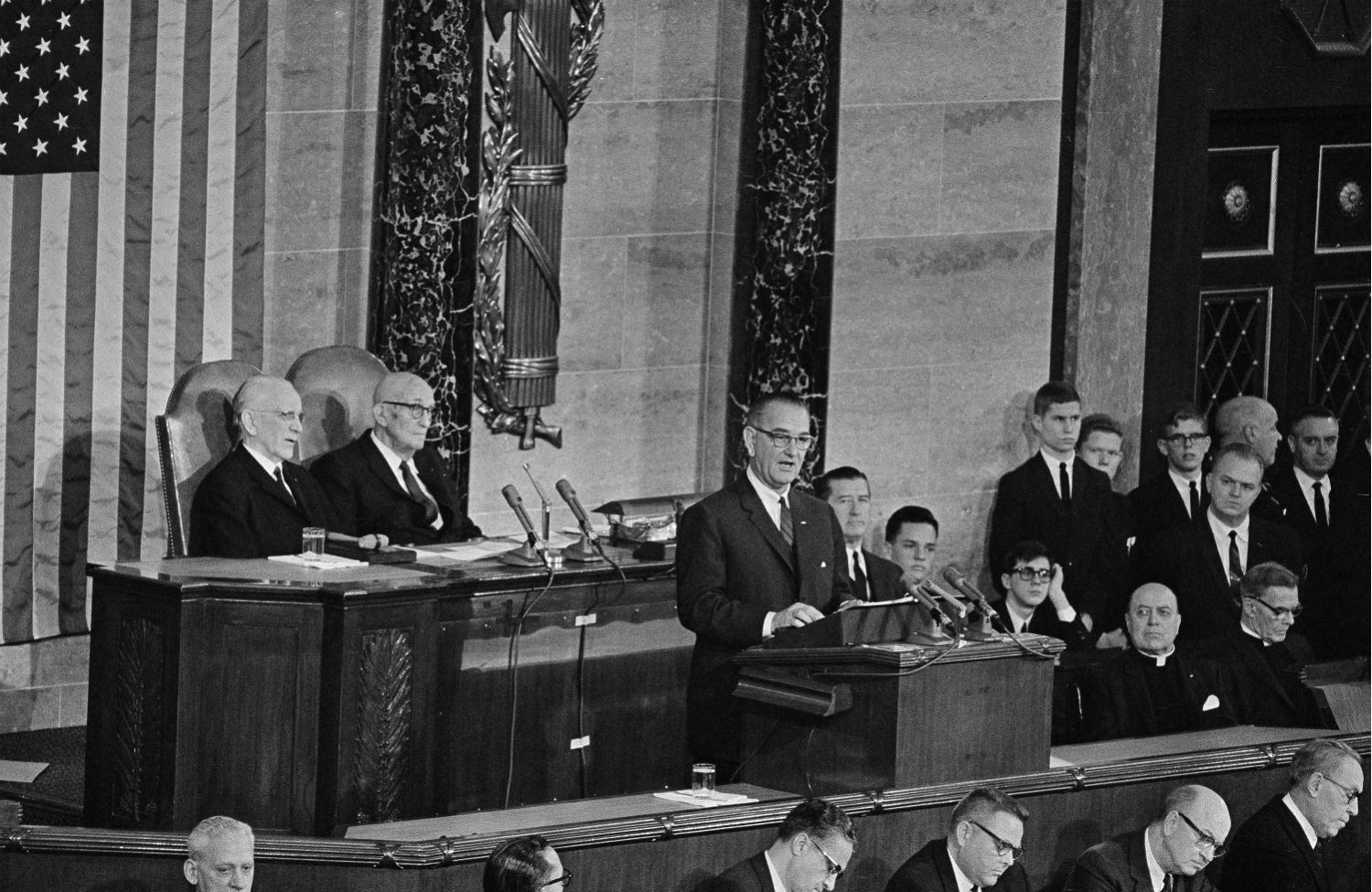 In-his-first-State-of-the-Union-address-on-January-8-1964-President-Lyndon-B.-Johnson-announced-an-unconditional-war-on-poverty-in-America.-AP-Photo