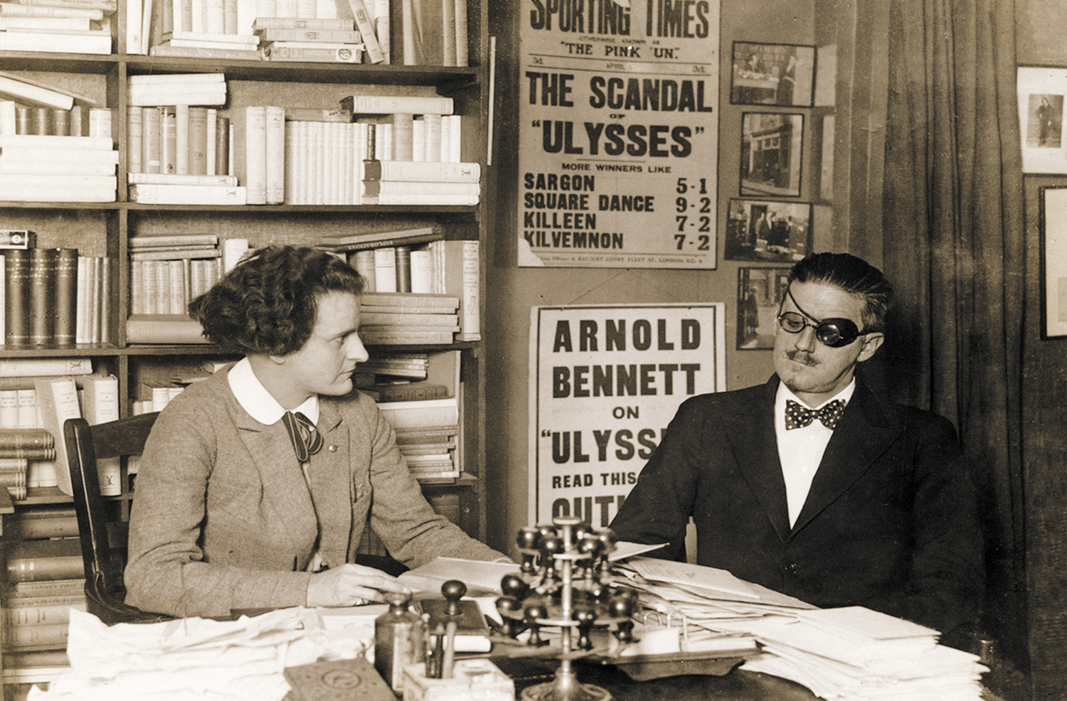 Sylvia-Beach-and-James-Joyce-at-Shakespeare-and-Company-in-1922