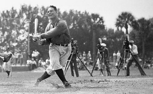 "Never a scandal, a paragon of self-control, he was my boyhood ""role model"" before those words came into currency. His character shone to the very end. Dying of what is now called Lou Gehrig's disease, he was given a rousing day of gratitude and love at a packed Yankee Stadium. Only Lou, still in his 30s, would have thought to say to more than 60,000 tearing fans, ""I'm the luckiest man on the face of the earth.""           