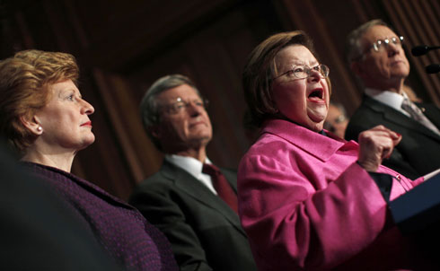 "As the fight over what would be included in healthcare reform unfolded, Sen. Barbara Mikulski pushed an amendment, the key provisions of which were eventually adopted by the healthcare reform bill, to require all health insurance plans to cover women's preventive care and screenings with no copayments. According to Mikulski, ""Women pay more and get less. My amendment guarantees access to preventive screenings for the number one killers of women—heart disease, cancers and chronic conditions like diabetes—to save lives and save money.""