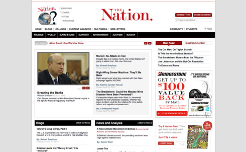The Nation has been a home for influential opinion and analysis and hard-hitting investigative reporting since its founding, and TheNation.com has broadened the magazine's reach and dramatically grown the community of Nation readers.  Here are 15 of the biggest stories to appear on TheNation.com over the past decade.
