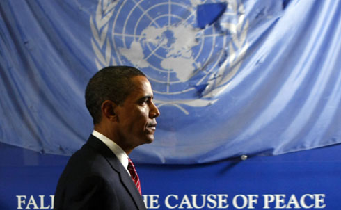"""President Obama made history in April of 2009 when he proposed abolishing nuclear arms as not just a legitimate but also a critical goal. """"With these words came a change in the global air,"""" Jonathan Schell wrote, """"as if a window had been opened a crack in a dark room that had been sealed shut for decades.""""   But the dark room was quickly re-sealed as Obama went on to explain that nuclear disarmament would not """"be achieved quickly, perhaps not in my lifetime."""" Instead, Obama promised to work toward a """"basic bargain"""" of countries with nuclear weapons moving toward disarmament and countries without nuclear weapons not acquiring them. """"Obama says he is prepared to postpone abolition until he has died,"""" Schell wrote. """"He is 47. I wish him long life. Let us free the world of nuclear weapons while he is still among us.""""  Credit: Reuters Pictures"""