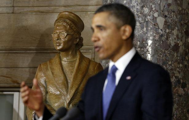 Frederick Douglass Statue Honoring Rosa Parks Re...