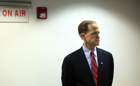 """Pennsylvania was a bloodbath for Democrats in 2010, but former Wall Street pro Pat Toomey barely eked out a win for Senate over ex-Representative Joe Sestak. Since then, Toomey has largely kept his head down in the upper chamber, except to see the Senate reject his own radical, hypocritical budget proposal.His plan would cut funds for """"transportation and infrastructure, the FBI, most of homeland security activities…elementary and secondary education, National Institutes of Health cancer and other health research, environmental protection, and a vast array of other significant programs,"""" according to the Center for Budget and Policy Priorities. Maybe that makes sense in the political climate of early 2011, but how will Pennsylvania voters feel when Toomey has to face them in 2016?  Credit: AP Images"""