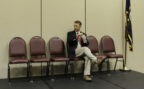 "In the race for Kentucky's Senate seat, libertarian-leaning Republican Rand Paul's campaign against the Democrats' Jack Conway has seemingly scrambled the politics of both major parties. Conway says he would have voted for the Iraq War, while Paul says he would have voted against it; Conway supports the Patriot Act, while Paul has criticized it as an ""overreach""; Conway crusades against marijuana, calling it a ""gateway drug,"" while Paul has said that ten- and twenty-year sentences for possession are too harsh—a mildly countercultural stance that was only highlighted by a GQ article depicting the college-age Rand as a pot-smoking, girl-hazing, Christian-mocking devotee of the ""Aqua Buddha."" Worst of all, Conway says he would gladly extend the Bush tax cuts for the very rich for ""five, eight, maybe ten"" years—a position thoroughly in sync with Paul's anti-tax crusade. Paul, who has overturned every imaginable convention of a populist Kentucky politician, is still leading the race, perhaps underscoring more the weakness of Conway's watered-down conservative platform than the strength of Paul's own policy positions. 