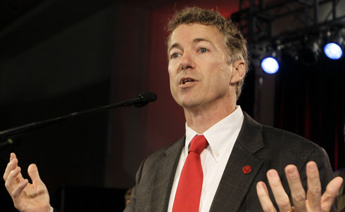 """Get out your tin foil hats—Kentucky's Rand Paul thinks there's a socialist conspiracy behind all this climate change talk, and Osama bin Laden is in on it, too. Sen. Paul should win a prize for dishonest uses of rhetoric. According to Paul, efforts to control climate change will destroy American jobs, ally us with capitalism-hating dictators and promote terrorism.  He's also using a manufactured scandal to discredit all climate science. Climate scientists are """"making up their facts to make their conclusions,"""" he said in a speech right after winning in his Senate primary. He was referring to an incident last year when leaked emails from British scientists sparked suspicion that the numbers in major climate change studies were rigged. Three independent investigations have since shown that these accusations were totally unfounded, but that hasn't stopped the GOP from using it to their political advantage.  Credit: APImages"""