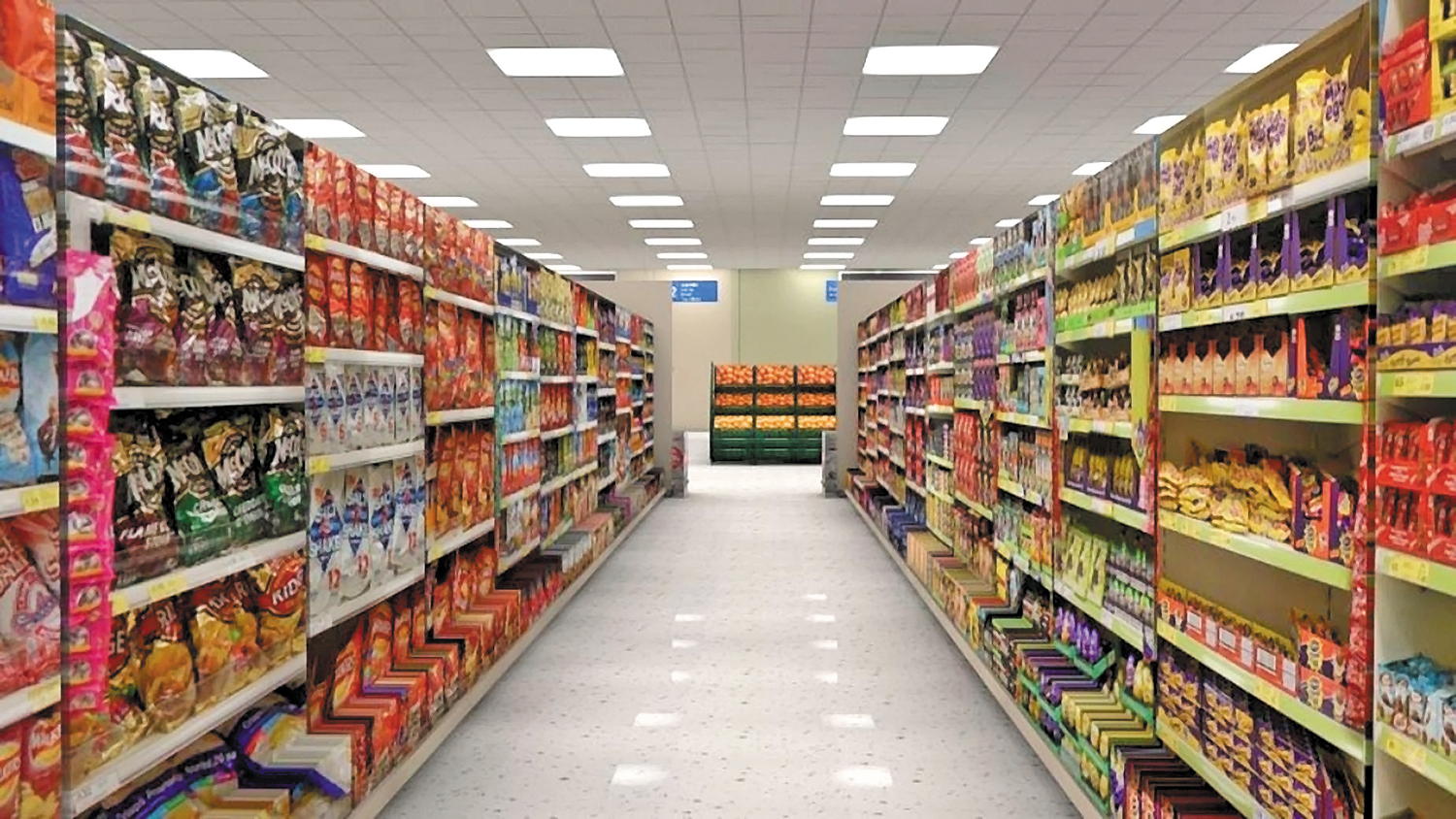 An-aisle-in-a-virtual-reality-Tesco-supermarket