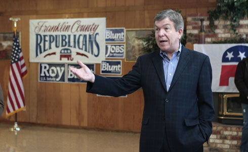 """Missouri's Roy Blunt has been hailed for his political savvy and unique ability to win friends and influence people. He's sat on the House Energy and Commerce Committee for years. And—gulp—he's a big climate change denier.  According to Blunt, """"there isn't any real science to say we are altering the climate path of the earth."""" He's been blocking climate change legislation in the House for years, and opposing the EPA getting more power to regulate emissions, too.  Research for this slide show provided by Braden Goyette  Credit: APImages"""