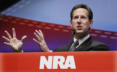 """Declared: Yes National Journal's Presidential Power Rankings: 8 Zogby poll:2% of Republican primary voters' support CPAC straw poll ranking: 11th Bodog odds: 40/1  """"As the hobbits are going up Mount Doom, the Eye of Mordor is being drawn somewhere else,"""" Santorum said. """"It's being drawn to Iraq and it's not being drawn to the U.S. You know what? I want to keep it on Iraq. I don't want the Eye to come back here to the United States."""" October 2006  Credit: AP Images"""
