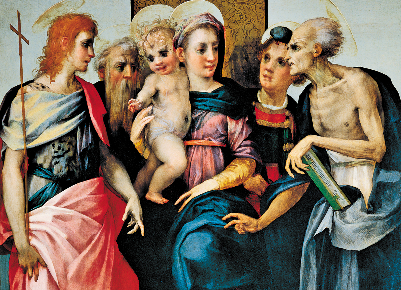 Madonna-and-Child-With-Four-Saints-Spedalingo-Altarpiece-by-Rosso-Fiorentino-1518