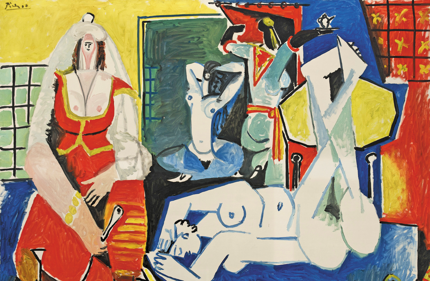 Women-of-Algiers-After-Delacroix-by-Pablo-Picasso-January-26-1955