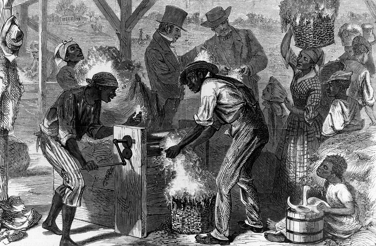 """""""The-First-Cotton-Gin""""-Harper's-Weekly-December-18-1869"""