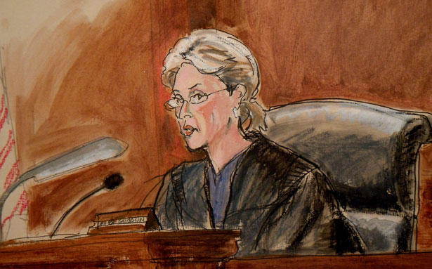 In-this-courtroom-sketch-Judge-Shira-Scheindlin-is-shown-during-a-hearing-for-former-Soviet-military-officer-Viktor-Bout.-AP-Photo