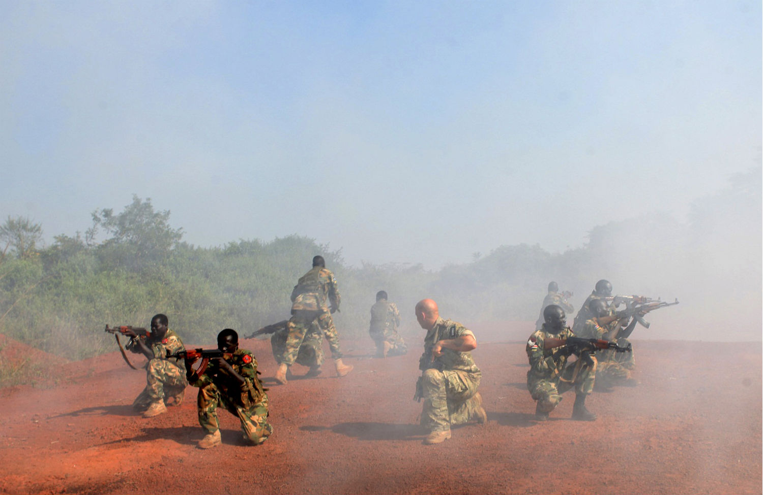 best loved 4cbc7 a372f A US Special Forces trainer supervises a military assault drill in Sudan in  2013. (Reuters Andreea Campeanu)