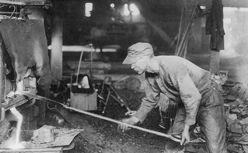 A steel worker in 1919