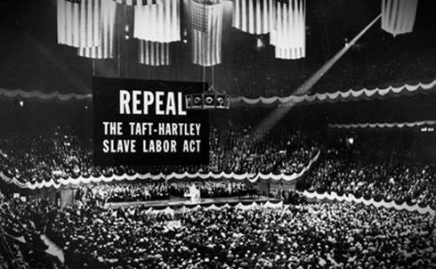 A union rally in New York's Madison Square Garden in 1947