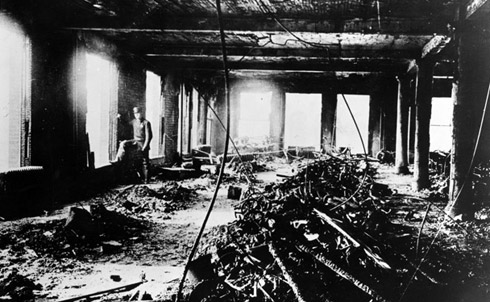 The Triangle Shirtwaist factory after the fire