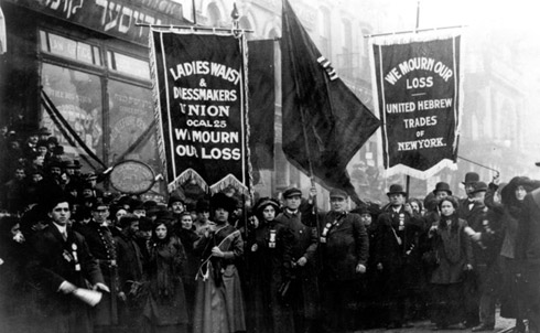 Trade parade in memory of Triangle Shirtwaist fire victims