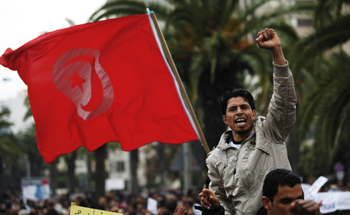 The future is unclear for Tunisia. Tunisia's new coalition government is already facing trouble—a few ministers have quit and the opposition party is threatening to walk out if members of the party of the cast out president aren't thrown out.